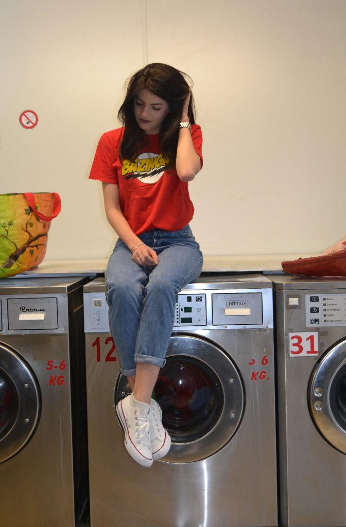 tenuedujour, t-shirt, bazinga, brune, brunette