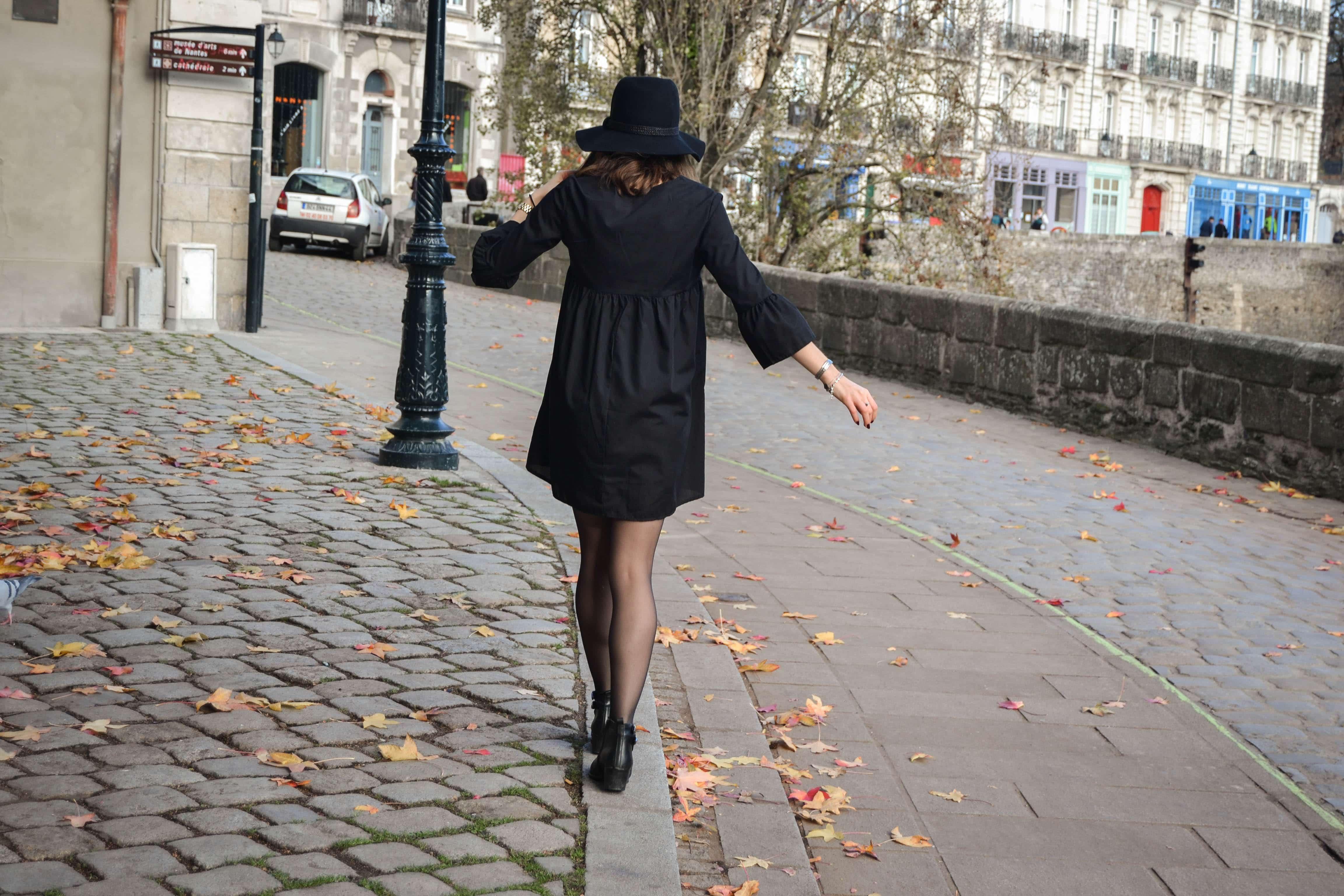 robe noire pretty little thing nantes blog