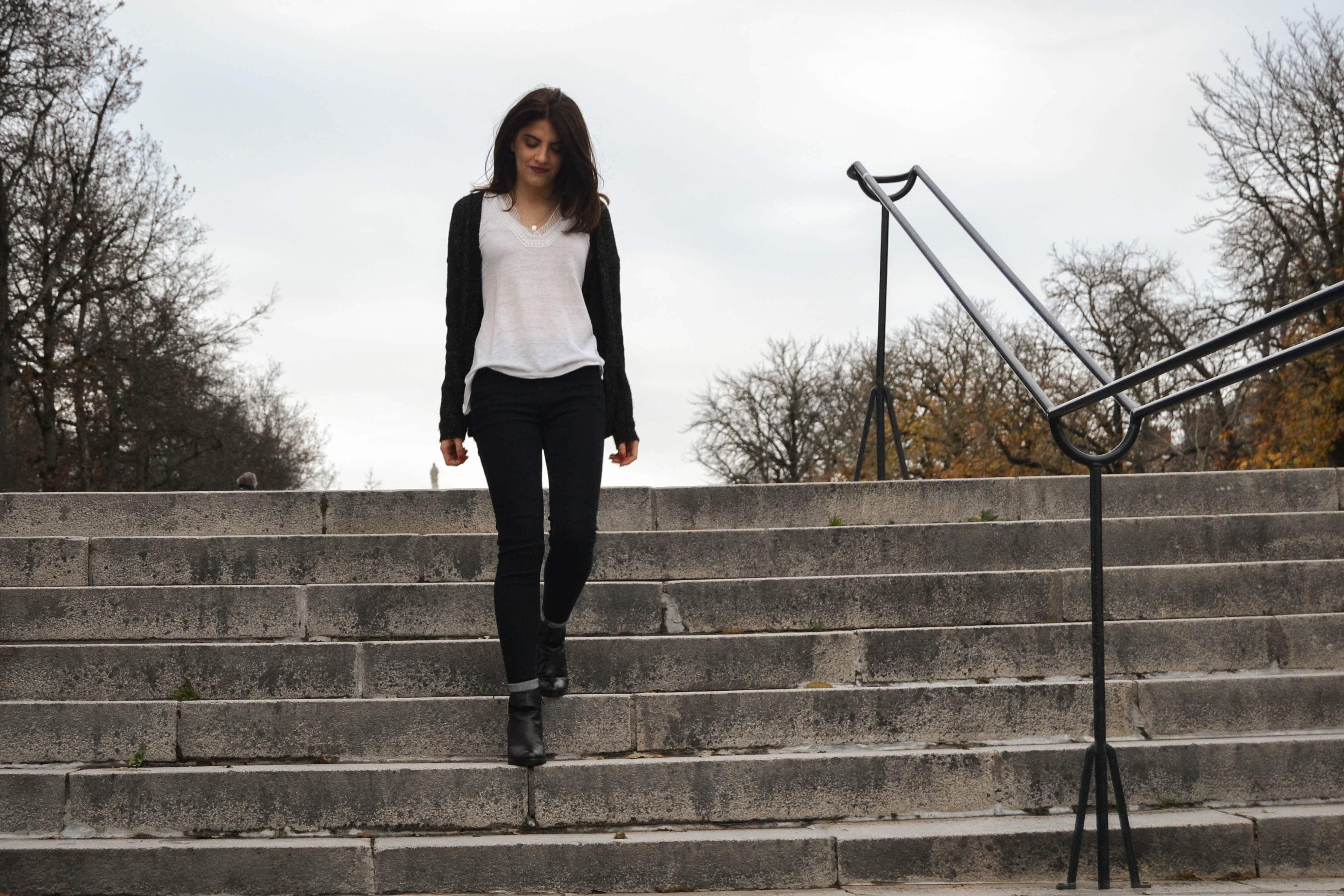 tenue haut blanc etam jean noir pretty little thing chaussure eram nantes blog