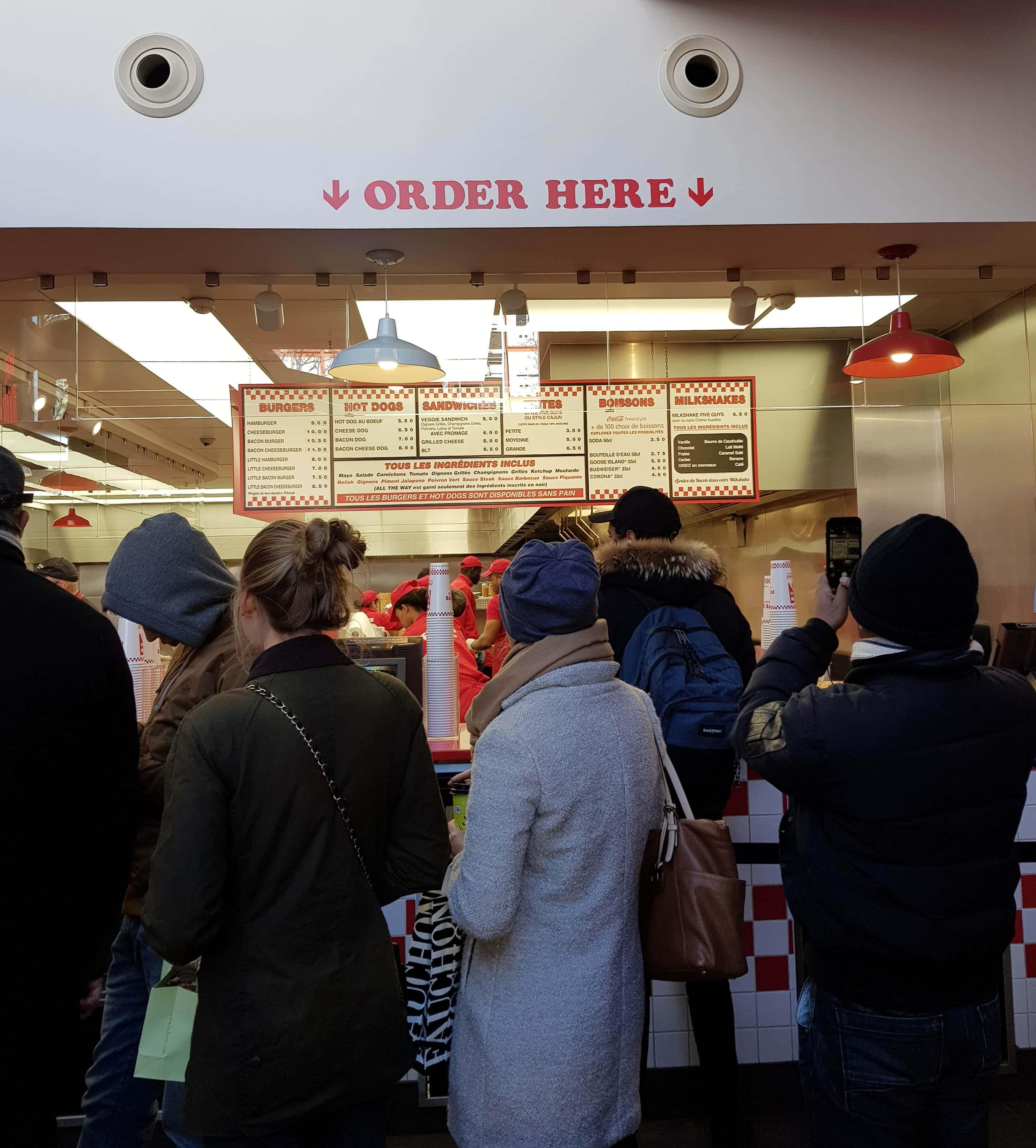 five guys fast food paris fidjigirl champs elysées